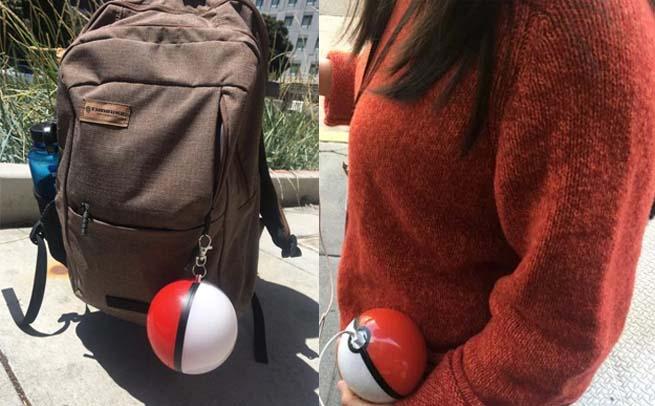 Poke Ball portable battery charger for Pokemon Go